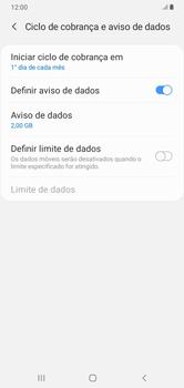 Como definir um aviso e limite de uso de dados - Samsung Galaxy A10 - Passo 11