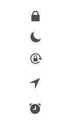 Explicação dos ícones - Apple iPhone 6 - Passo 18