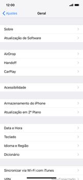 Como encontrar o número de IMEI do seu aparelho - Apple iPhone XR - Passo 3
