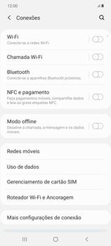 Como ativar e desativar o roaming de dados - Samsung Galaxy Note 20 5G - Passo 4