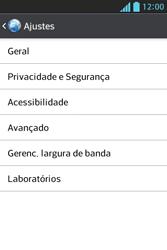 Como configurar a internet do seu aparelho (APN) - LG Optimus L5 - Passo 21