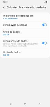 Como definir um aviso e limite de uso de dados - Samsung Galaxy A10 - Passo 14