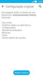 Como restaurar as configurações originais do seu aparelho - Asus ZenFone 2 - Passo 6