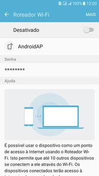 Como usar seu aparelho como um roteador de rede Wi-Fi - Samsung Galaxy On 7 - Passo 9