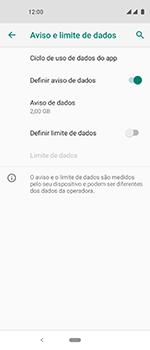 Como definir um aviso e limite de uso de dados - Motorola One Vision - Passo 10