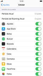 Como definir um aviso e limite de uso de dados - Apple iPhone 8 - Passo 3