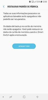 Como restaurar as configurações originais do seu aparelho - Samsung Galaxy J6 - Passo 8