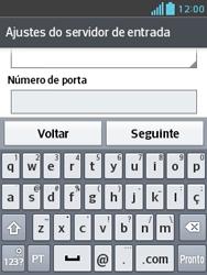 Como configurar seu celular para receber e enviar e-mails - LG Optimus L3 II - Passo 12