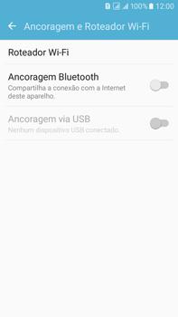 Como usar seu aparelho como um roteador de rede Wi-Fi - Samsung Galaxy On 7 - Passo 4