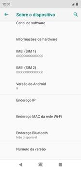Como encontrar o número de IMEI do seu aparelho - Motorola Moto G7 Play - Passo 7