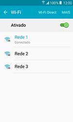 Como configurar uma rede Wi-Fi - Samsung Galaxy J1 - Passo 7
