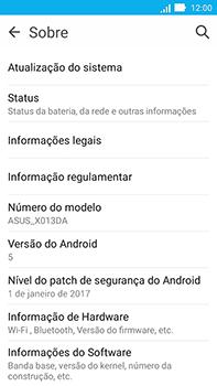Como encontrar o número de IMEI do seu aparelho - Asus ZenFone Go - Passo 4