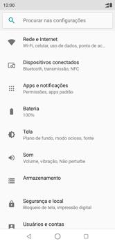 Como selecionar o tipo de rede adequada - Motorola One - Passo 3