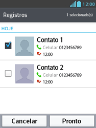 Como bloquear chamadas de um número específico - LG Optimus L3 II - Passo 10