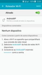 Como usar seu aparelho como um roteador de rede Wi-Fi - Samsung Galaxy J5 - Passo 11