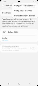Como usar seu aparelho como um roteador de rede Wi-Fi - Samsung Galaxy S20 Plus 5G - Passo 7