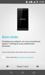 Como ativar seu aparelho - Sony Xperia E1 - Passo 5