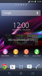 Como configurar seu celular para receber e enviar e-mails - Sony Xperia SP - Passo 1