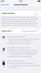 Como usar seu aparelho como um roteador de rede Wi-Fi - Apple iPhone 7 - Passo 3