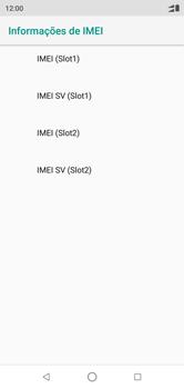 Como encontrar o número de IMEI do seu aparelho - Motorola One - Passo 7