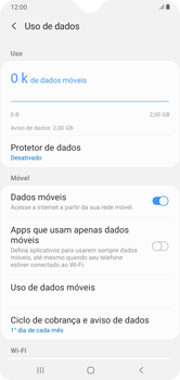 Como definir um aviso e limite de uso de dados - Samsung Galaxy A10 - Passo 5