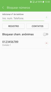 Como bloquear chamadas de um número específico - Samsung Galaxy On 7 - Passo 10