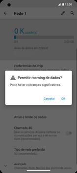 Como ativar e desativar o roaming de dados - Motorola Edge - Passo 6