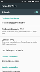 Como usar seu aparelho como um roteador de rede Wi-Fi - Lenovo Vibe C2 - Passo 10