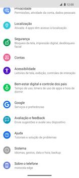Como encontrar o número de IMEI do seu aparelho - Motorola Edge - Passo 3