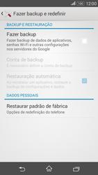 Como restaurar as configurações originais do seu aparelho - Sony Xperia E4G - Passo 5
