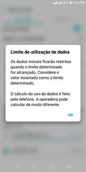 Como definir um aviso e limite de uso de dados - LG K12+ - Passo 8