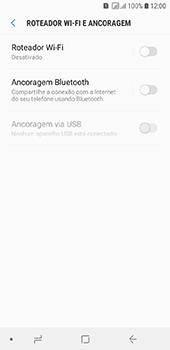 Como usar seu aparelho como um roteador de rede Wi-Fi - Samsung Galaxy J6 - Passo 5