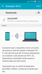 Como usar seu aparelho como um roteador de rede Wi-Fi - Samsung Galaxy S6 - Passo 5