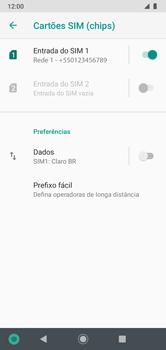 Como ativar e desativar uma rede de dados - Motorola Moto G7 Power - Passo 7