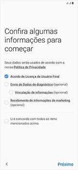 Como configurar pela primeira vez - Samsung Galaxy A50 - Passo 7