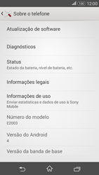 Como encontrar o número de IMEI do seu aparelho - Sony Xperia E4G - Passo 4