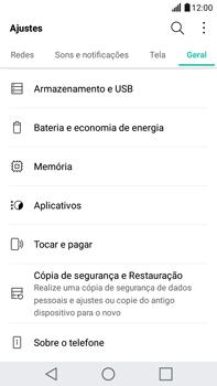 Como restaurar as configurações originais do seu aparelho - LG G5 Stylus - Passo 4