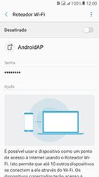 Como usar seu aparelho como um roteador de rede Wi-Fi - Samsung Galaxy J2 Prime - Passo 6