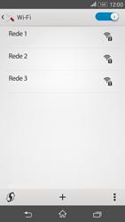 Como configurar uma rede Wi-Fi - Sony Xperia E4G - Passo 5