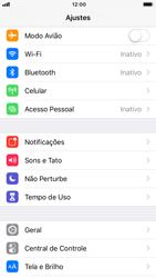 Como selecionar o tipo de rede adequada - Apple iPhone 7 - Passo 2