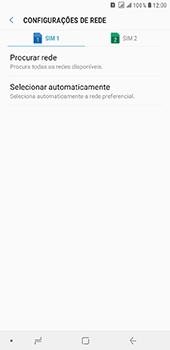 Como selecionar o tipo de rede adequada - Samsung Galaxy J8 - Passo 7
