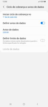 Como definir um aviso e limite de uso de dados - Samsung Galaxy A32 5G - Passo 8