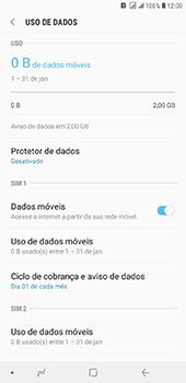 Como definir um aviso e limite de uso de dados - Samsung Galaxy J8 - Passo 5