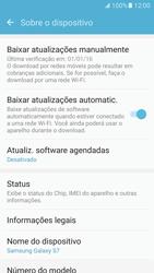 Como encontrar o número de IMEI do seu aparelho - Samsung Galaxy S7 - Passo 4
