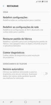 Como restaurar as configurações originais do seu aparelho - Samsung Galaxy S9 Plus - Passo 6