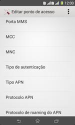 Como configurar a internet do seu aparelho (APN) - Sony Xperia E1 - Passo 12