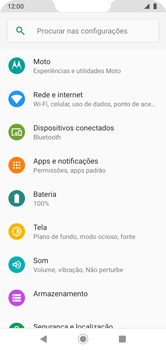 Como ativar e desativar uma rede de dados - Motorola Moto G7 Power - Passo 3