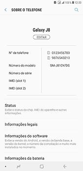 Como encontrar o número de IMEI do seu aparelho - Samsung Galaxy J8 - Passo 4