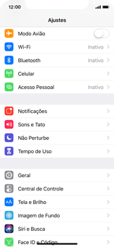 Como configurar a internet do seu aparelho (APN) - Apple iPhone X - Passo 2