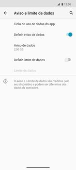 Como definir um aviso e limite de uso de dados - Motorola Edge - Passo 8